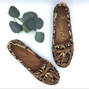 Sam Edelman Moccasin Calf Hair Leopard Flats 8.5